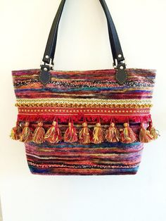 Handmade Moroccan bohemian inspired tote bag by CararaDesignsUK