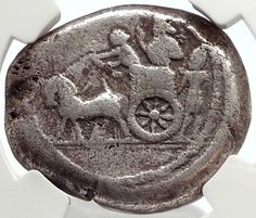 Sidon in Phoenicia 370BC Ancient Silver Double Shekel Greek Coin NGC VF i66897