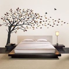 Blowing Leaves Tree Decal