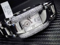 WOMENS LADIES CUSTOM CHOPARD LA STRADA DIAMOND WATCH STAINLESS STEEL 418380