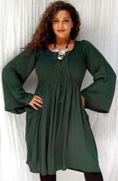 DRESS SHORT SMOCKED LACING ELASTIC FITS - M L 1X 2X - R294S (Green) LOTUSTRADERS. $38.99