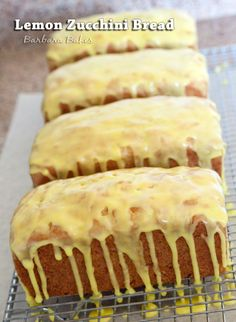 Zucchini Bread with Lemon Glaze from @BarbaraBakes.  Wow >