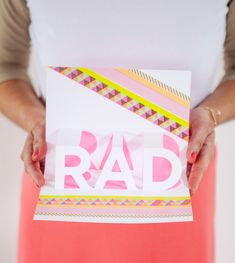 RAD Pop-up Card DIY