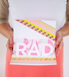 RAD Pop-up Card DIY / Oh Joy