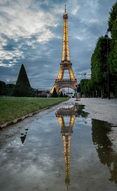Photograph Reflection by Andrzej Bernas on City Life, Reflection, Photograph, Tower, Building, Travel, Image, Photography, Rook