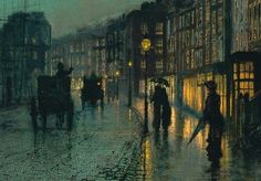 John Atkinson Grimshaw - Shipping On The Clyde (details)