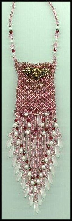 { for christmas } Amulet  knitted  beaded. i do not want the diamonds or fancy for christmas. Wait... if i had the diamond i sell & buy the vespa & tulle dress & ride away!