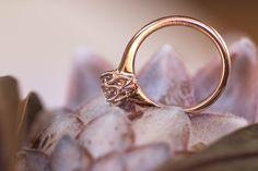 Victorian Solitaire Engagement ring set in rose gold. www.marionrehwinkeljewellery.com