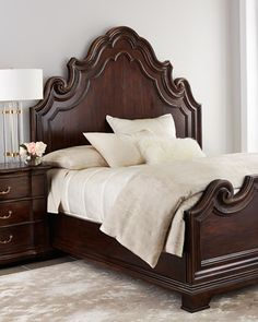 Shop Chateau Bedroom Furniture from Bernhardt at Horchow, where you'll find new lower shipping on hundreds of home furnishings and gifts. Bedroom Furniture Uk, Wood Bedroom, Furniture Decor, Bedroom Decor, Bedroom Ideas, Vintage Furniture, Dream Master Bedroom, Bedding Master Bedroom, Bedroom Suites