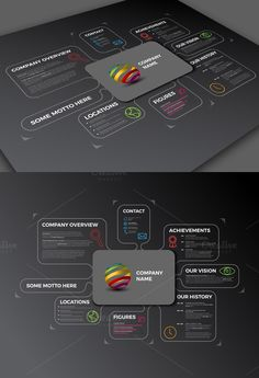 Example Of Company Profile Template Entrancing Infographic Banners For Powerpoint  Presentationgo  Free .
