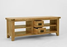 Provence Oak TV Video Unit - Crafted from North American oak, this range has a rustic appeal and is ideal for adding that touch of rustic charm to any home. Crafted using artisan methods, pieces feature tongue and groove panels as well as dovetailed joints. Hand-finished with a light lacquer finish which protects and highlights, pieces are adorned with antiqued brass handles and hinges.