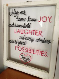 Vintage Hand Painted Window by PrettyOldWindows on Etsy, $75.00