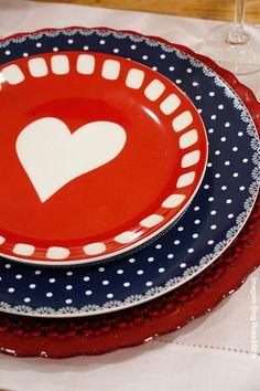 jogo de jantar de louça de coração - Pesquisa Google