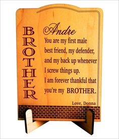 Big Brother Gift For Custom By Greatwoodengifts Christmas Gifts Birthday