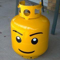 Lego head propane tank!!