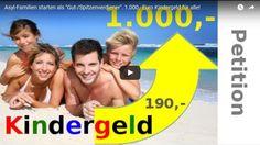 Asyl-Familien starten als Groß- oder Spitzenverdiener mit ca. 1.100,- Euro je Person (Kind oder Erwachsener) vom Sozialamt, kaum zu glauben! 90% der Deutschen mit Kindern können davon nurträumen. Das Wohlergehen von Asylanten-Kindern ist unseren Politikern über 1.000,- Euro pro Monat wert, dagegen sind die 190 Euro Kindergeld für deutsche Eltern ausgesprochen wenig, bis Ende letzten …
