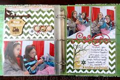 Keri Babbitt combined the Silver And Gold collection along with Elf Magic to make her Misc. Me album pages. Love seeing all her holiday traditions. #BoBunny, @Keri Babbitt