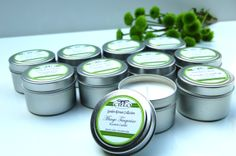travel candle tins--favors