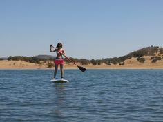 Stand Up Paddleboarding at Lake Camanche  #SUP #sierrafoothills #lakecamanche.  Rent paddleboards at Lake Camanche www.camancherecreation.com