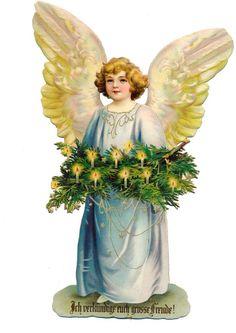 Pin on victorian die cut Vintage Christmas Images, Victorian Christmas, Retro Christmas, Christmas Love, Christmas Pictures, Christmas Angels, Vintage Images, Images Victoriennes, Angel Images