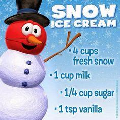 Harris Sisters GirlTalk: Snow Cream Recipe