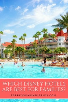 Using 4 criteria, here's how to know which Disney World hotel is best for families. Consider your finances, how many kids, activities, and length of stay. | espressomomdiaries.com #disneyworld #disneyplanning #disneyhotels #disneytravel #familytravel #fam