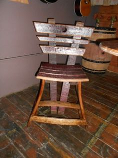 Custom made with wine staves