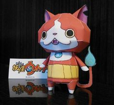 Yo-Kai Watch - Jibanyan Ghost Cat Paper Toy - by Gong Nag - == -  This nice paper toy of Jibanyan, the Ghost Cat, from Yo-Kai Watch videogame and anime, was created by Japanese designer Gong Nag.