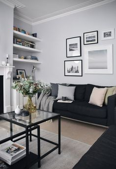 33 Amazing Grey White Black Living Room Decor Ideas And Remodel. If you are looking for Grey White Black Living Room Decor Ideas And Remodel, You come to the right place. Here are the Grey White Blac. Silver Living Room, Living Room White, My Living Room, Living Room Interior, Home Interior, Home And Living, Interior Design, Small Living, Modern Living