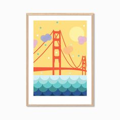 AMERICA San Fran Poster : Modern San Francisco by MayAndBazStore