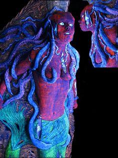 Zombie Mermaid davy jones pirate halloween jack sparrow ship figurehead haunt