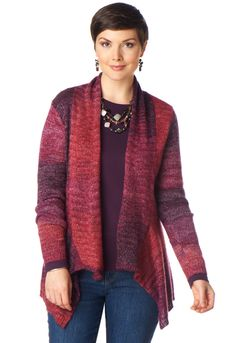 Open Front Ombre Cardigan - View All TopsChristopher & Banks | Christopher and Banks