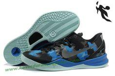 Nike Zoom Kobe 8 (VIII) Black Blue Jade Basketball Shoes Style 555035 707