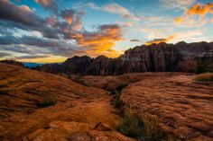 ~ Sunset Over Snow Canyon State Park ~ Utah....