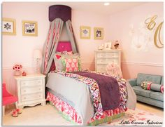 Glamorous toddler room designed by Little Crown Interiors. #toddler #room