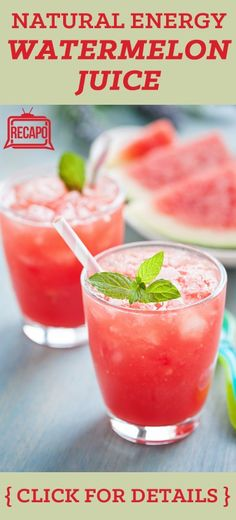 Check out some of Dr Oz's favorite natural energy booters, including simple, delicious watermelon juice
