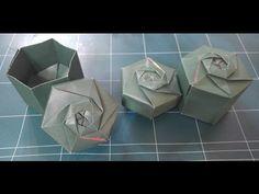 313.육각상자종이접기.오월의장미.종이상자접기.origami - YouTube