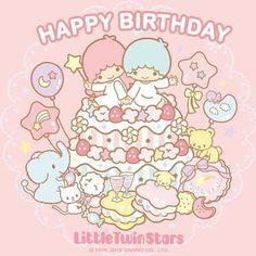 Little Twin Stars ☆ Happy Birthday! My Melody Wallpaper, Sanrio Wallpaper, Hello Kitty Wallpaper, Kawaii Wallpaper, Birthday Greetings For Sister, Happy Birthday Images, Birthday Wishes, Birthday Cards, Birthday Qoutes