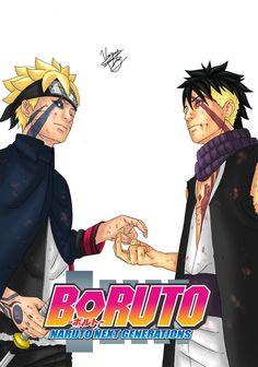 Naruto Vs Sasuke, Boruto And Sarada, Sasuke Sakura Sarada, Naruto Anime, Naruto Art, Gaara, Otaku Anime, Shikadai, Baruto Manga
