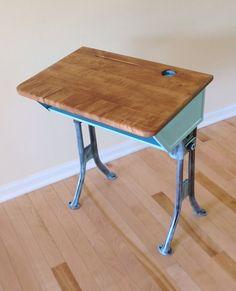 Vintage school desk. 1920s American Seating Company. by MindPawed