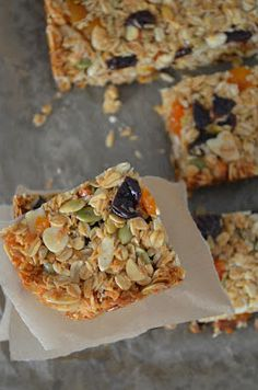 homemade chewy granola bars. Ina Garten inspired.