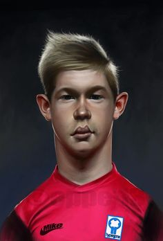 Mike Eppe - caricature illustration: Kevin de Bruyne World Cup 2014, Fifa World Cup, Soccer Players, Coaching, Branding, Football, Illustrations, Space, Memes