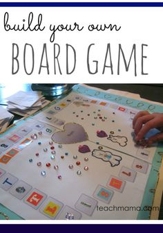 fabulous, fancy game to practice tricky sounds: s, t, r, l -- or ANY concept you need! build your own board game printable --> LOVE