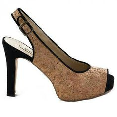 Peep Toe shoe with a 110mm heel and 25 mm concealed platform. Vegan shoes. $141