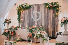 Photo of Rustic fairytale photobooth with wedding logo Wedding Wall, Wedding Stage, Diy Wedding, Wedding Ceremony, Wedding Flowers, Dream Wedding, Wedding Ideas, Rustic Wedding Backdrops, Outdoor Wedding Decorations
