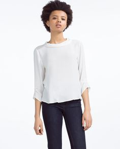 ROLL NECK BLOUSE-View All-TOPS-WOMAN | ZARA United States