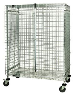 """Quantum Storage Systems M2448-69SEC Wire Security Unit, Mobile with Stem Casters, Chrome Finish, 24"""" Width x 48"""" Length x 69"""" Height by Quantum. $1012.29. Genuine Quantum modular wire systems offer a unique combination of shelf and post sizes in a variety of finishes to compliment any application. The split sleeve and grooved numbered posts allow for easy and quick assembly. The all welded shelf construction is supported with architectural wire trusses to provide bet..."""