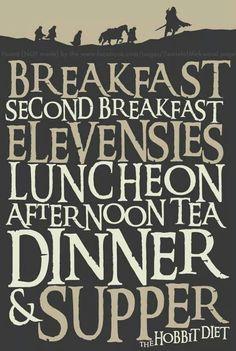 The hobbits' seven meals