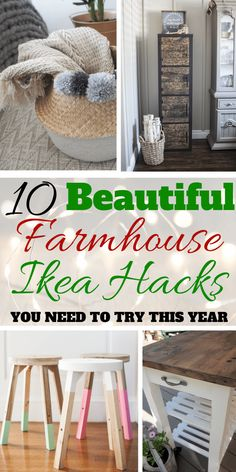 Farmhouse Ikea hacks that will give your home a cozy farmhouse style that looks way more expensive than it actually is! I don't know about you but I just cannot get enough of Ikea & Ikea hacks… if you love. Farmhouse Kitchen Interior, Modern Farmhouse Kitchens, Rustic Farmhouse Decor, Farmhouse Windows, Cute Home Decor, Cheap Home Decor, Ikea Hacks, Hacks Diy, Design Your Own Home