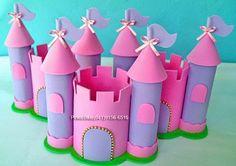 Pinkie Blue Artigos para festa: Castelo de Princesa- centro de mesa